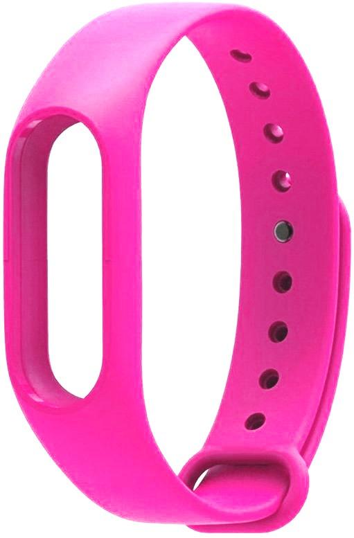 Ремешок силиконовый для фитнес трекера Xiaomi Mi Band 2 розовый фитнес трекер xiaomi mi band 2