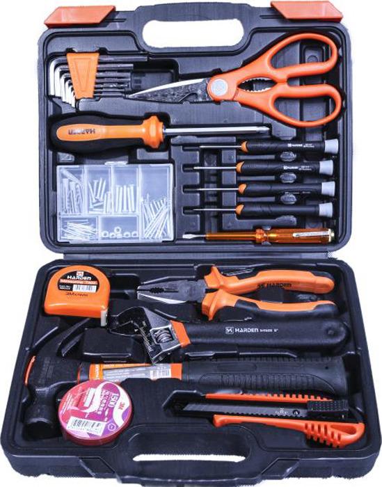 Набор инструментов Harden, 510222, слесарно-монтажный, универсальный, 22 предмета ключ разводной harden 540532 304 мм