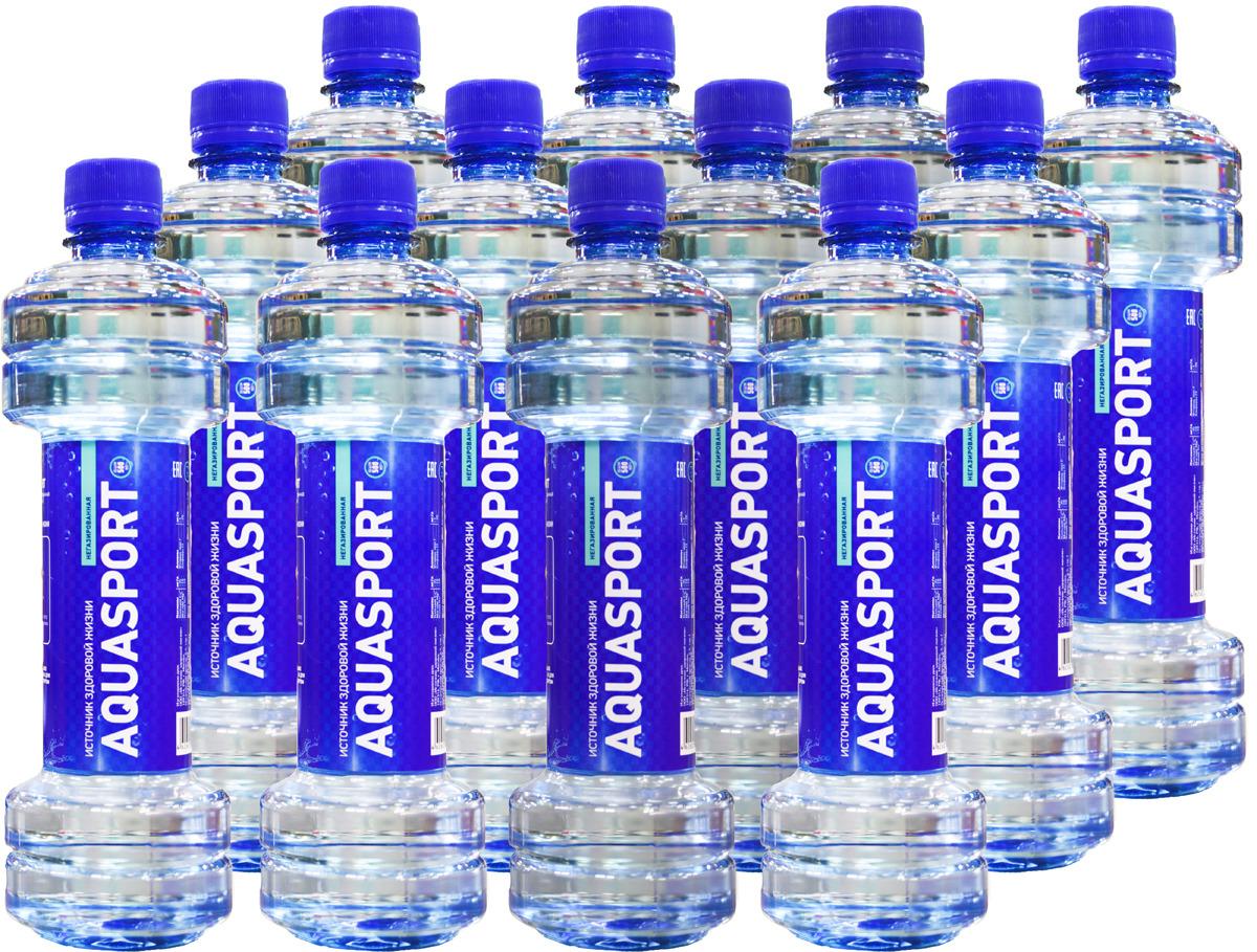 """Вода питьевая AquaSport """"Источник здоровой жизни"""", 500 мл, 12 шт"""