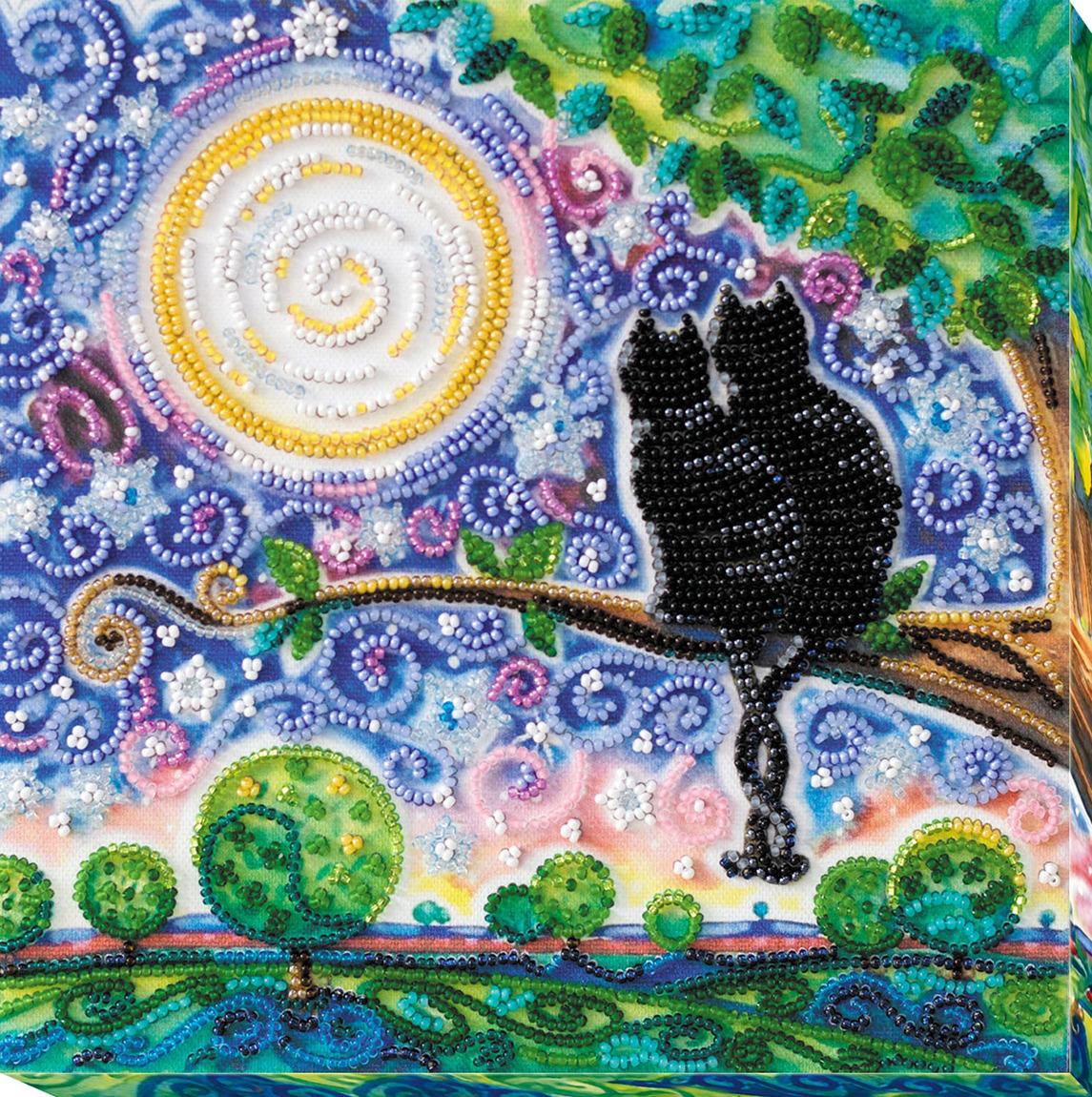 """Набор для вышивания бисером Абрис Арт """"Вместе навсегда"""", АМВ-015, 20 х 20 см"""