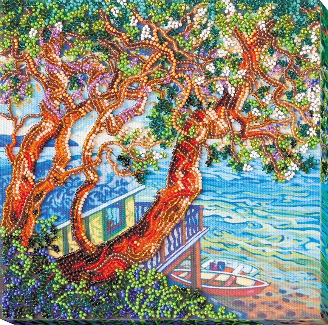 """Набор для вышивания бисером Абрис Арт """"Над морем"""", АМВ-041, 20 х 20 см"""
