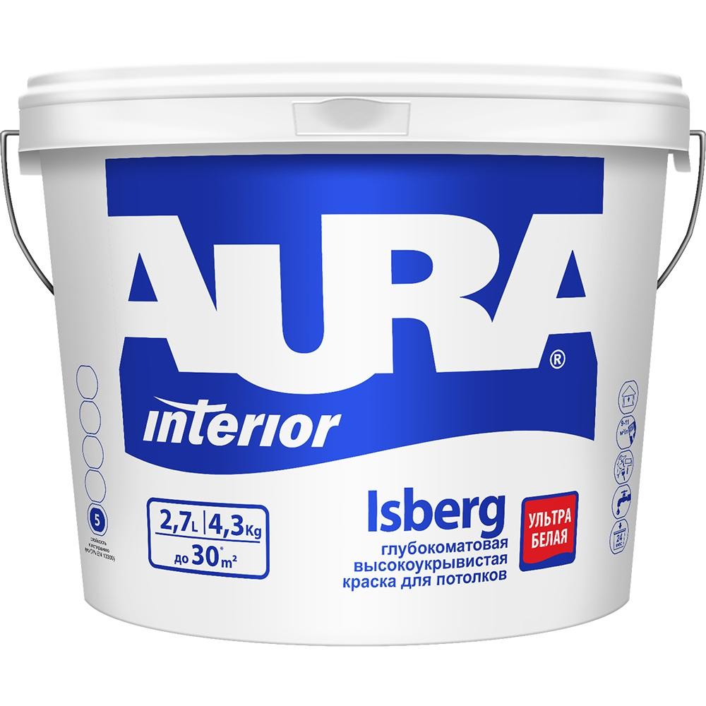 Краска AURA Isberg для потолков, ультра белая