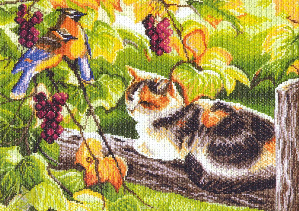 Набор для вышивания крестом и бисером Матренин Посад Утро в саду, 04/БН, 28 х 34 см наборы для шитья матренин посад набор для шитья и вышивания мороз красный нос