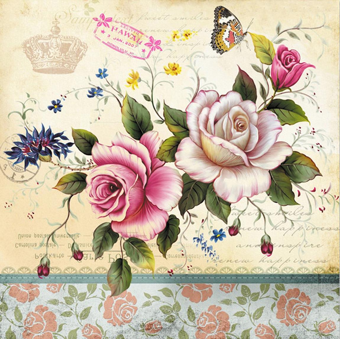 Обои на телефон открытки старинные рисованные