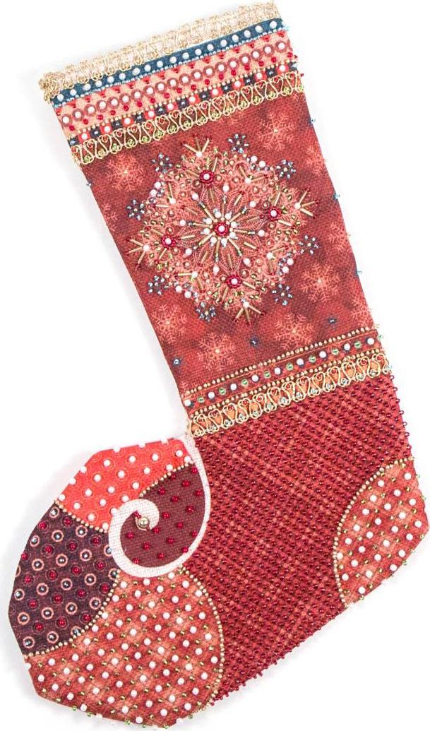 Набор для вышивания носков бисером и лентами Матренин Посад Шапито, 8428, 30 х 19 см наборы для шитья матренин посад набор для шитья и вышивания мороз красный нос