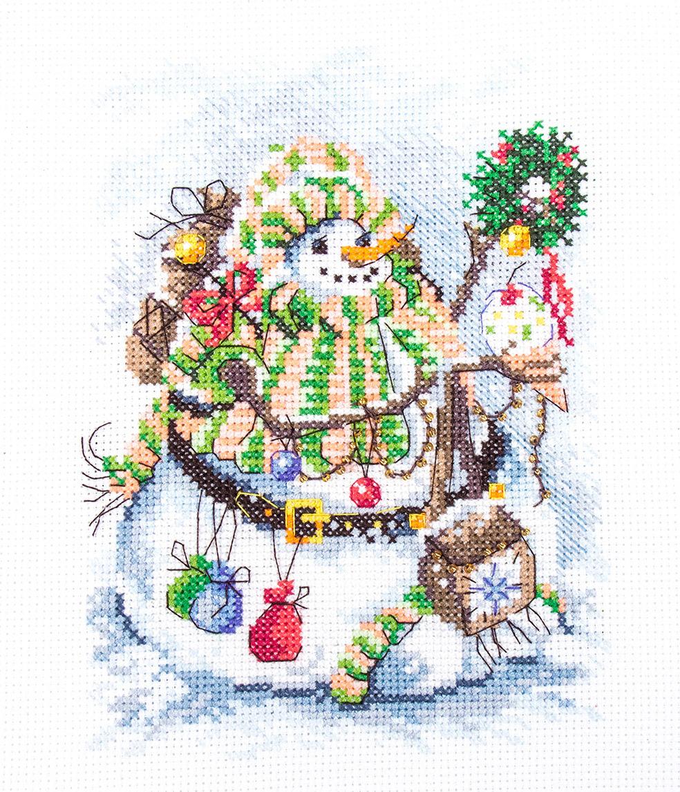 Набор для вышивания крестом Матренин Посад Снежорик, 6128, 20 х 20 см наборы для шитья матренин посад набор для шитья и вышивания мороз красный нос