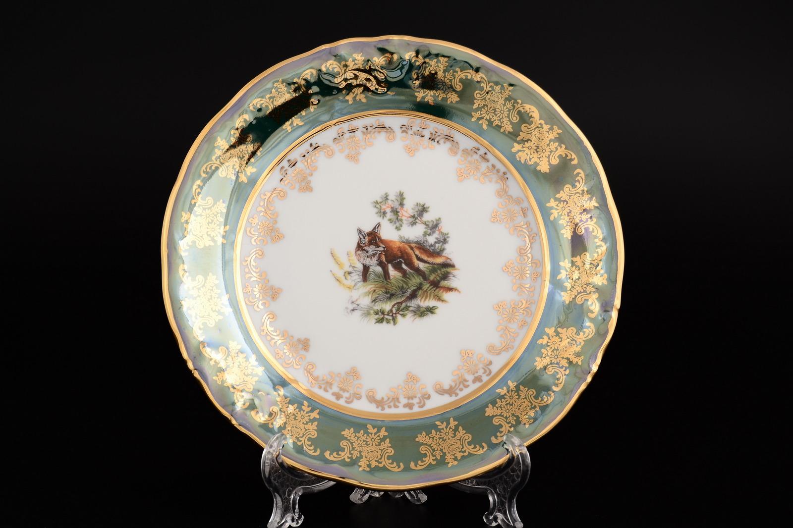 Набор тарелок 19 см Офелия (6 шт) Зеленая охота Moravec
