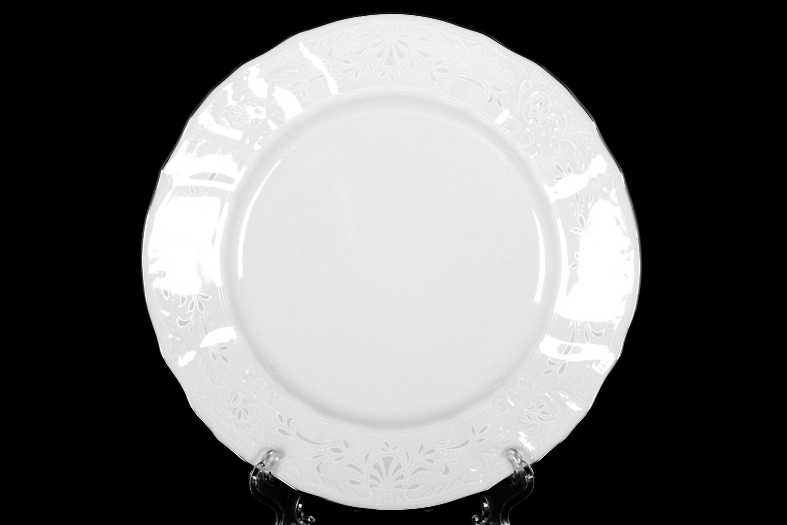 Набор тарелок 19 см Бернадотт Платиновый узор (6 шт)