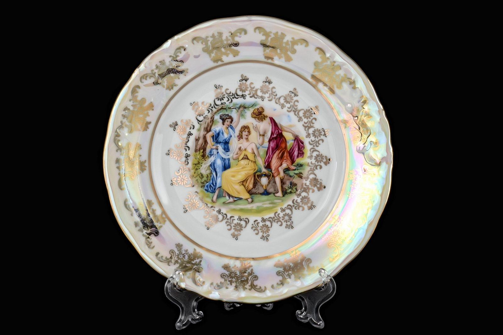 Набор тарелок 19 см Фредерика Мадонна Перламутр (6 шт)