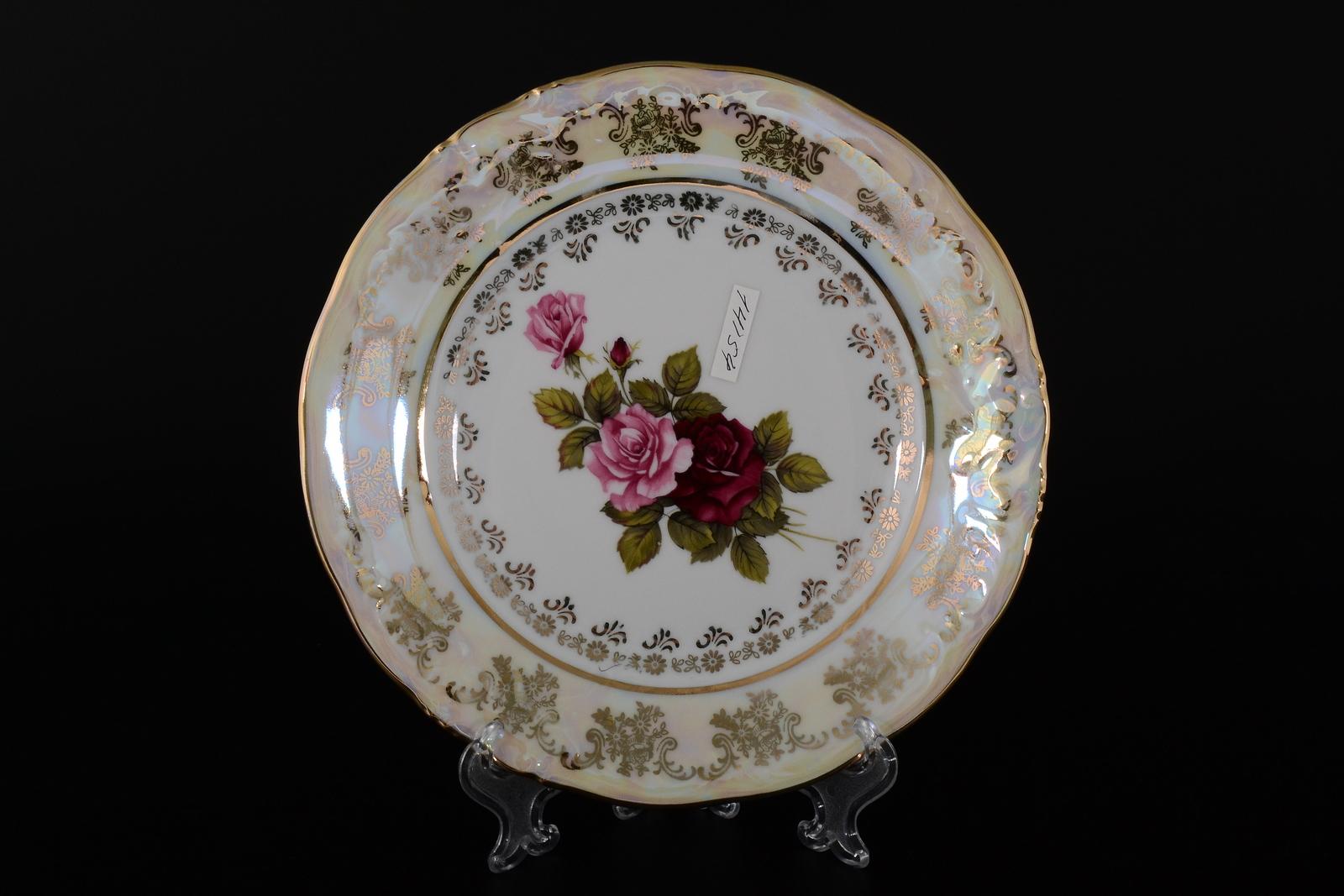 Набор тарелок 19 см Фредерика Роза перламутр (6 шт)
