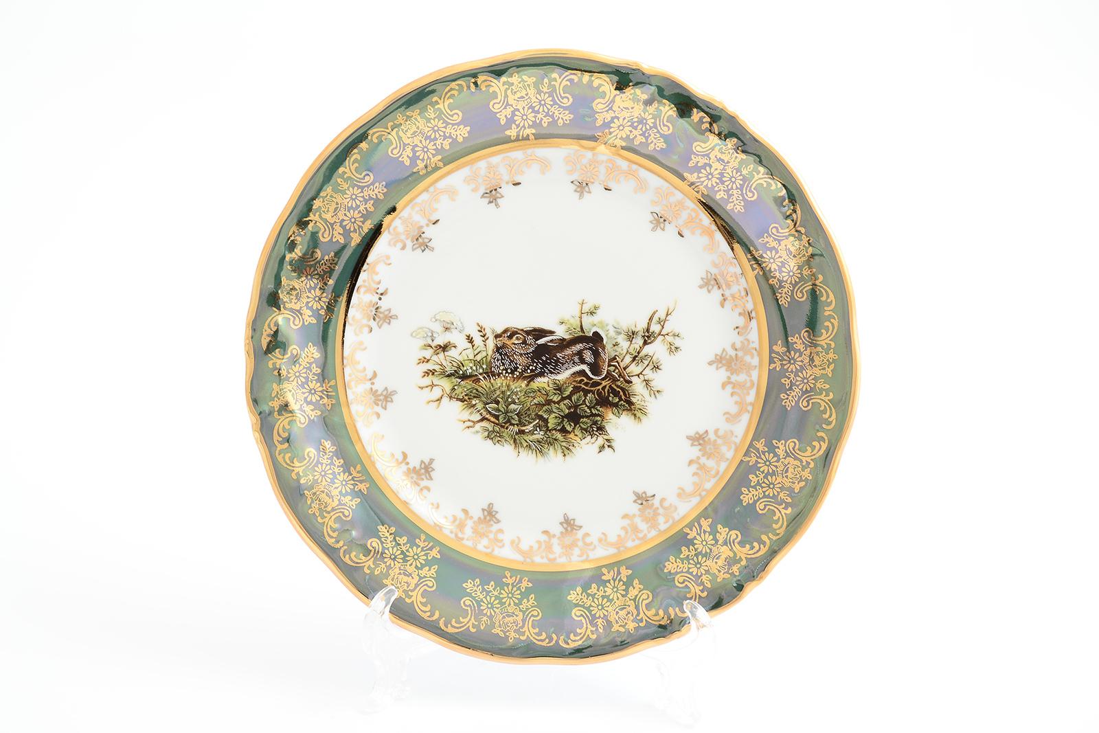 Набор тарелок 19 см Охота зеленая Корона