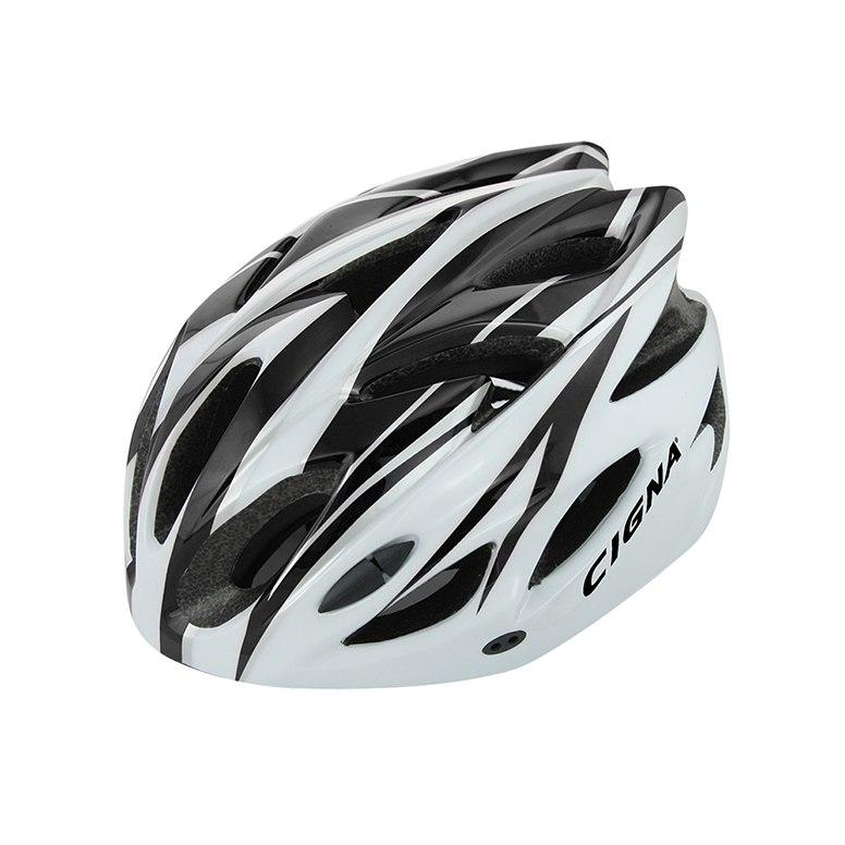 Велошлем Cigna WT-012, 883038, черный, белый, размер 57-62 недорго, оригинальная цена