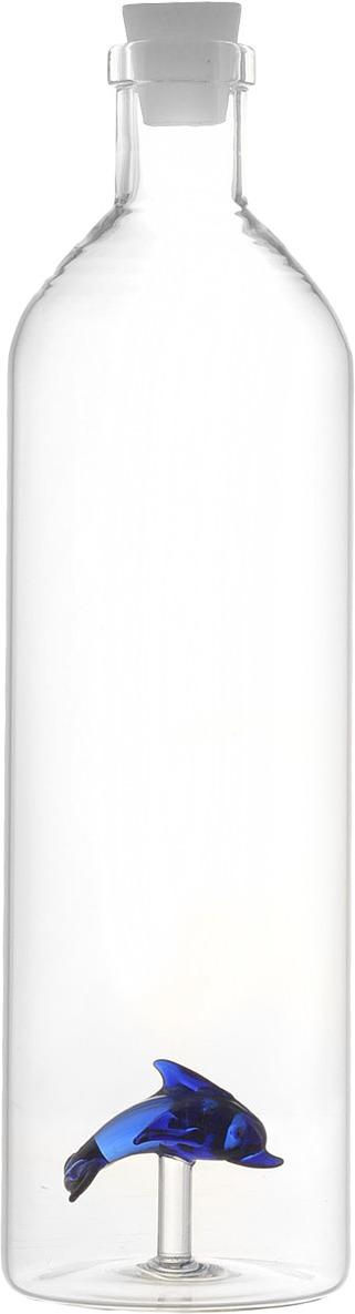цена на Бутылка для воды Balvi Dolphin, цвет: прозрачный, 1,2 л