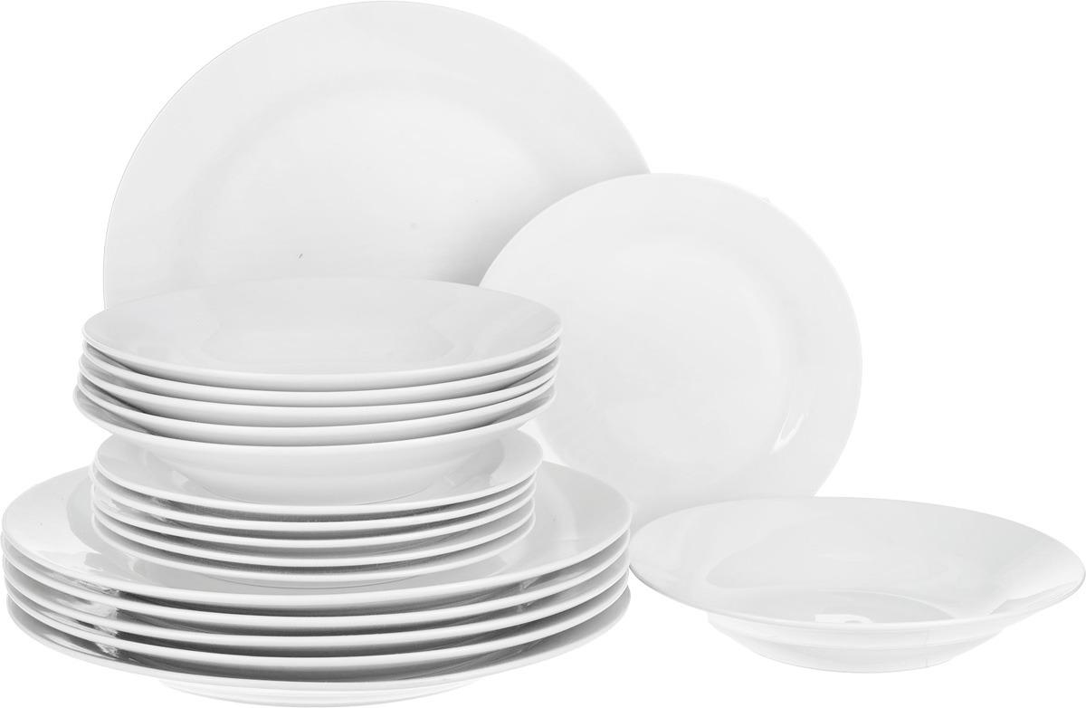 Сервиз обеденный Loraine, LR-27838, белый, 18 предметов