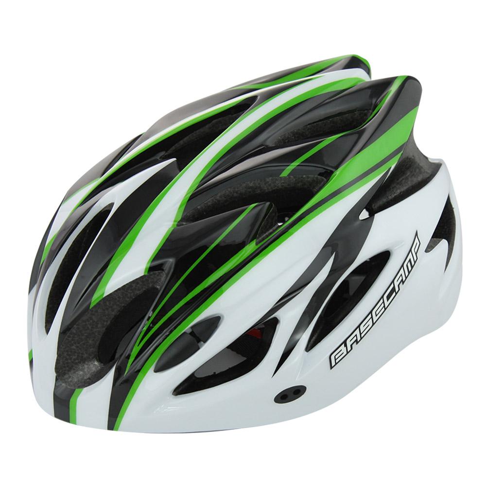 Велошлем Cigna WT-012, 883037, черный, белый, зеленый, размер 57-62 недорго, оригинальная цена