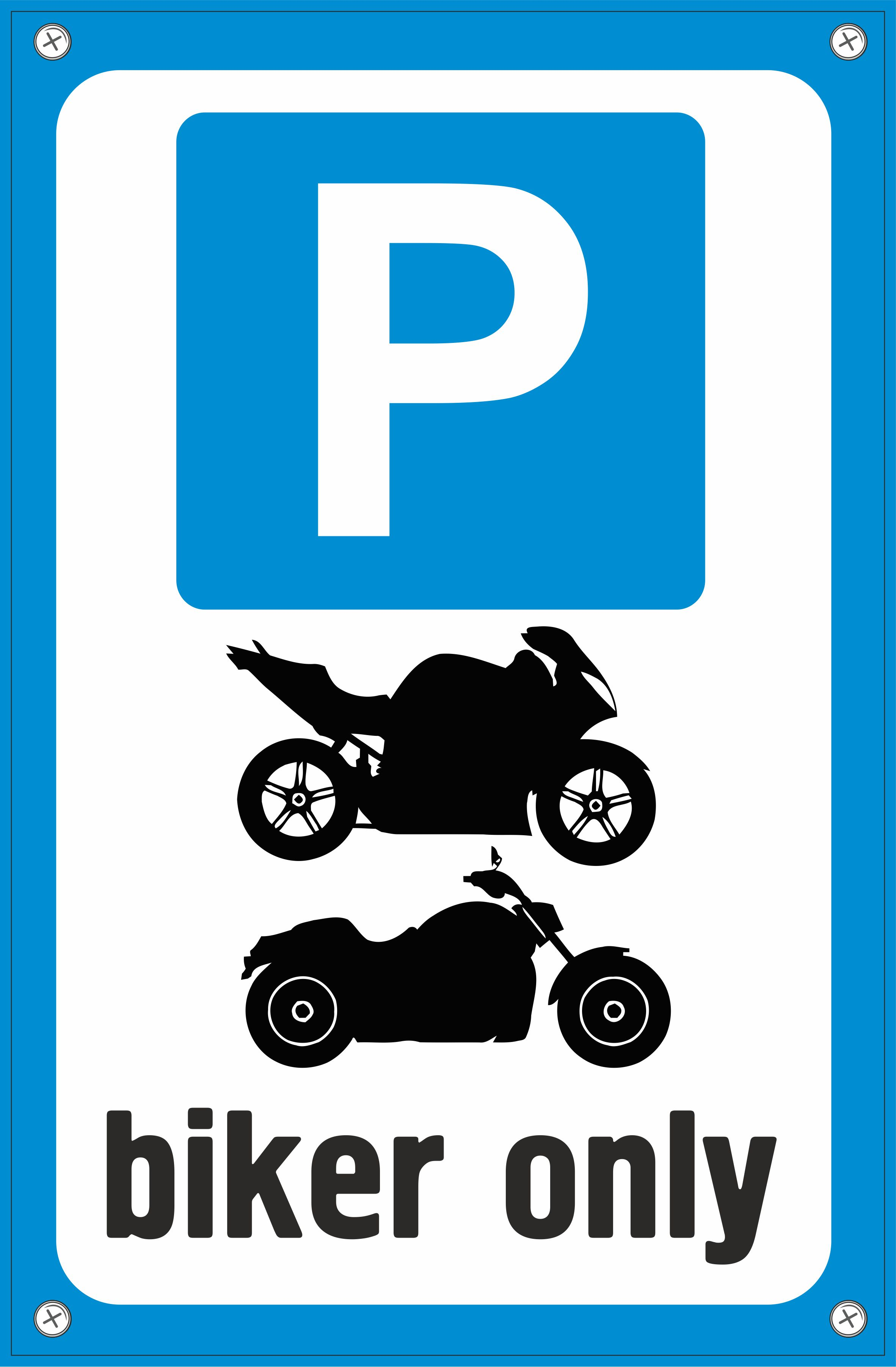 Табличка TPS 024 Парковка байкер, пластик 3 мм,30*19,5 см табличка tps 004 собака без привязи пластик 3 мм 30 19 5 см