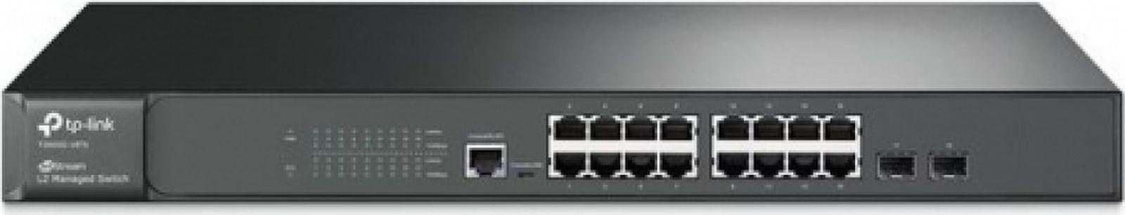 Коммутатор TP-Link T2600G-18TS 481592 16G 2SFP управляемый, 481592 телефон tp link
