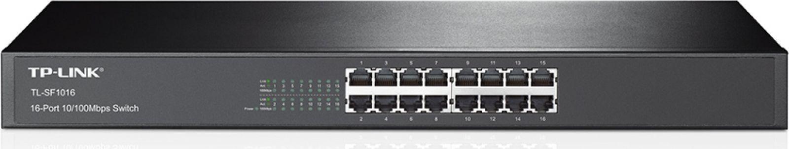 Коммутатор неуправляемый TP-Link TL-SF1016 16x100Mb, 331477