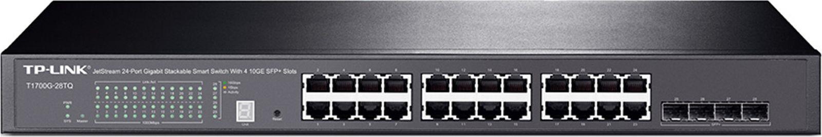 Коммутатор TP-Link T1700G-28TQ 380649 24G 4SFP управляемый, 380649 коммутатор tp link tl sg1024de 24g управляемый