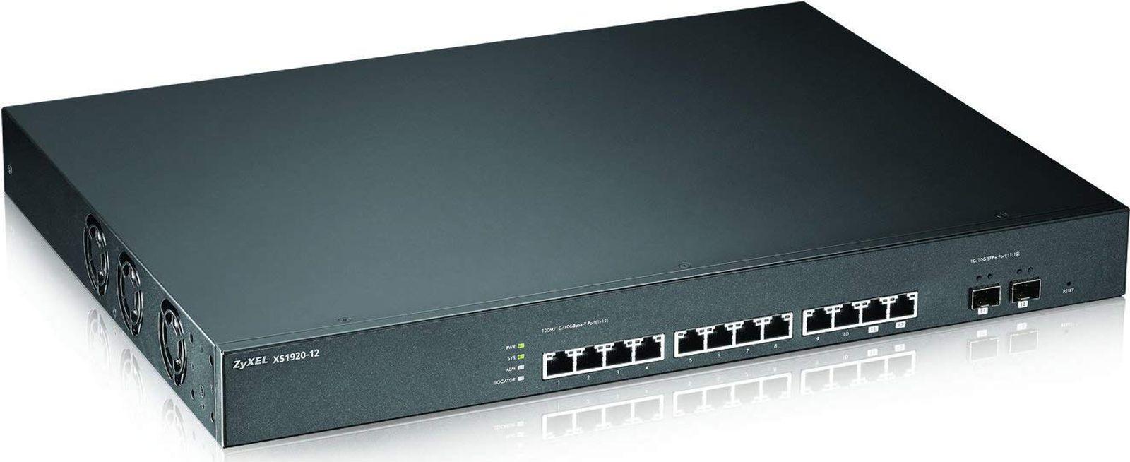 Коммутатор Zyxel XS1920-12-ZZ0101F 415163 12x10G 2SFP+ управляемый, 415163 коммутатор zyxel gs2210 48 gs2210 48