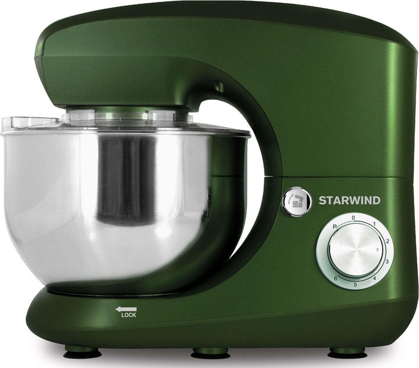 Миксер Starwind SPM5185 стационарный, 1033615, зеленый, 1000 Вт цена и фото