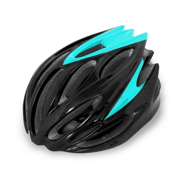 Фото - Велошлем Cigna WT-029, 883030, черный, бирюзовый, размер 57-62 костюм алтекс кд 055 мрамор 62 серый черный 62 размер