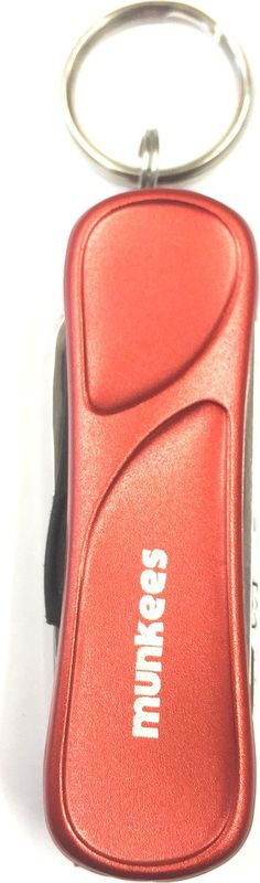 Мультитул Munkees Keyring Manicure Tool, для маникюра, с кольцом ключей, цвет: оранжевый