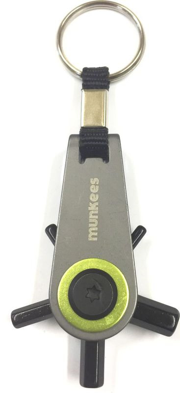 Брелок-отвертка Munkees Q Hex, со сменными насадками, цвет: серебристый цена