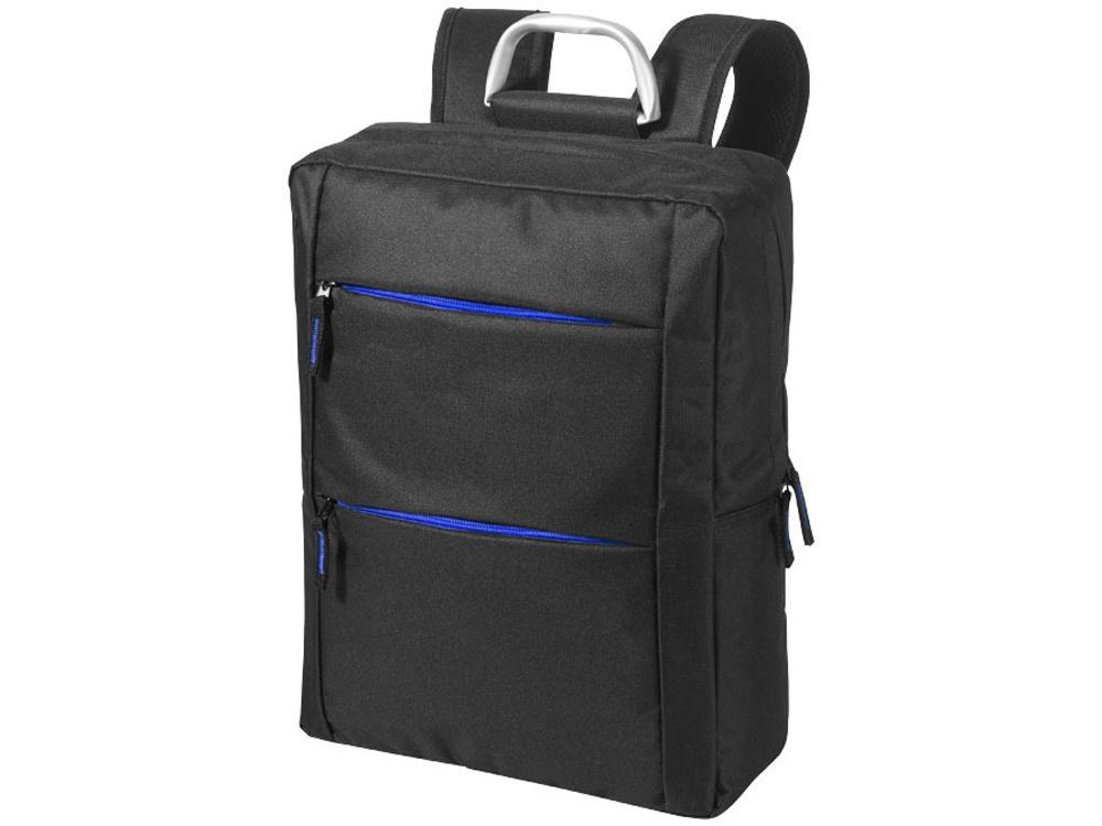 Рюкзак Boston для ноутбука 15,6, черный/ярко-синий цена