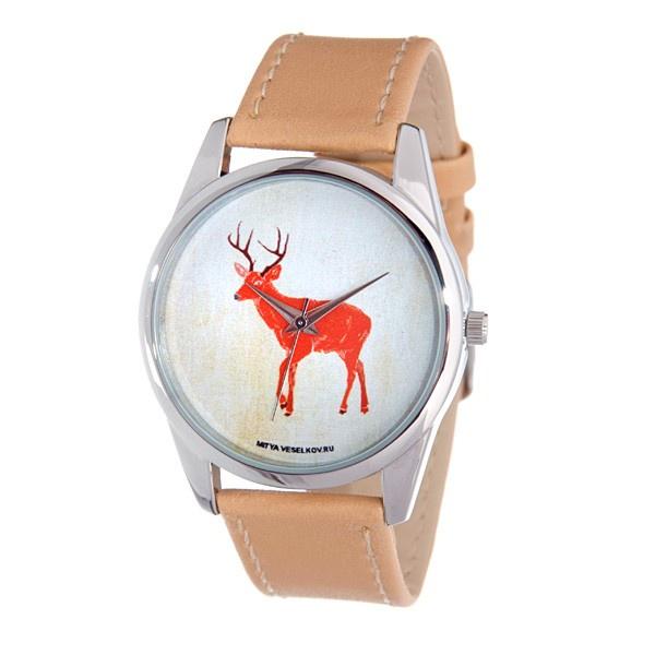 цена Часы Mitya Veselkov Лесной олень онлайн в 2017 году
