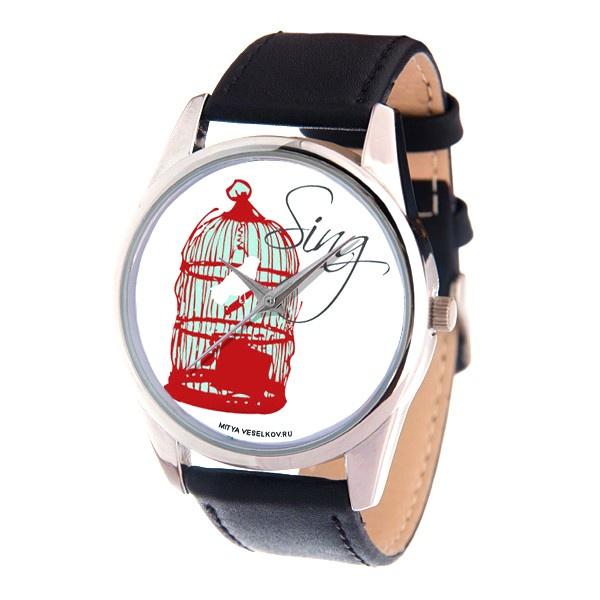 Часы Mitya Veselkov SILVER, красный все цены