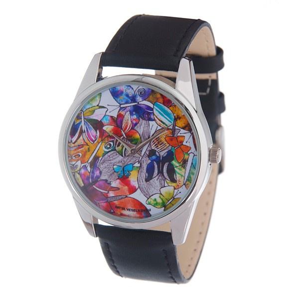 Часы Mitya Veselkov Акварельные бабочки Арт. MV-169 все цены