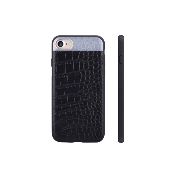 Чехол для телефона Comma Croco 2 Leather case для Apple IPhone 7/8, черный