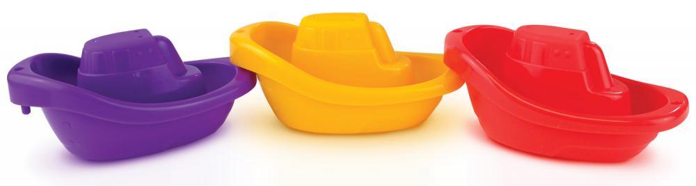 """Игрушка для ванны Munchkin """"Лодочки"""", ЦБ-00010238, желтый, фиолетовый, красный, 3 шт"""
