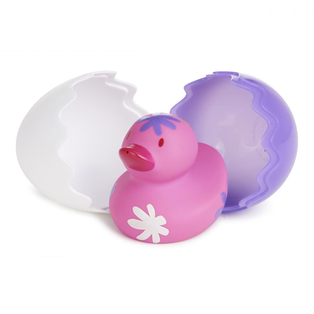 Munchkin игрушки для ванны Утёнок розовый 6+
