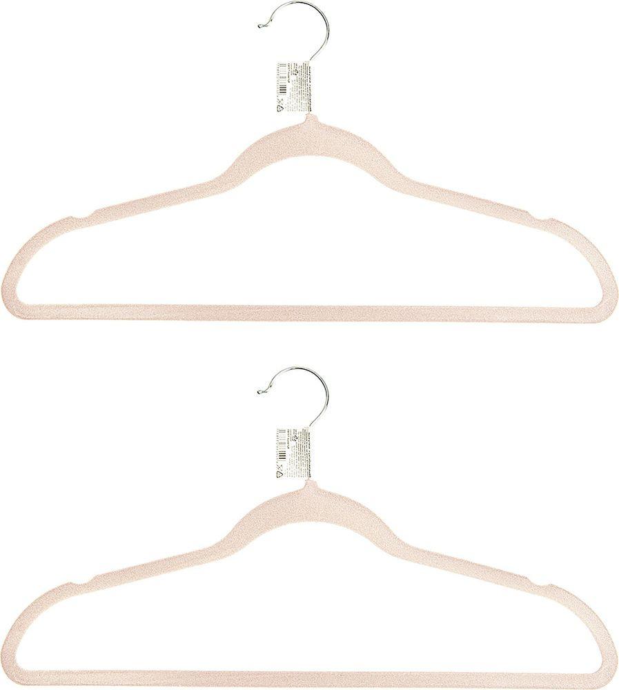 Набор вешалок для одежды Home Queen Велюр, 74286, в ассортименте, длина 45 см, 2 шт набор вешалок для одежды home queen цвет молочный 3 шт