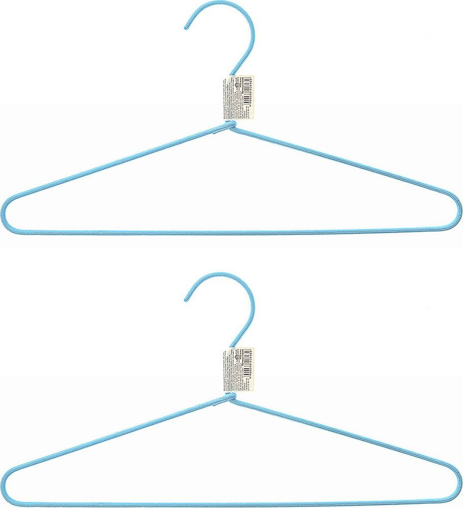 Набор вешалок для одежды Home Queen Текстиль, 74287, в ассортименте, длина 40,5 см, 2 шт набор вешалок для одежды home queen цвет молочный 3 шт