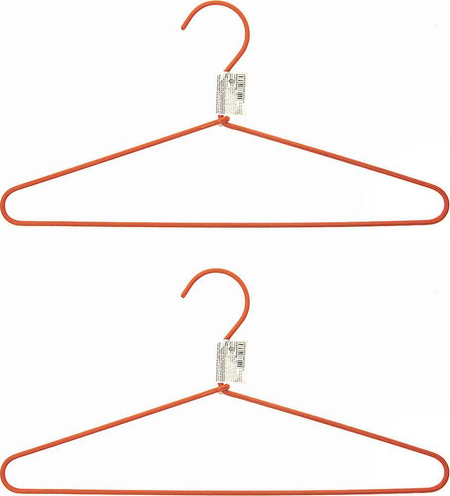 Набор вешалок для одежды Home Queen Текстиль, 74288, в ассортименте, длина 40,5 см, 2 шт набор вешалок для одежды home queen цвет молочный 3 шт