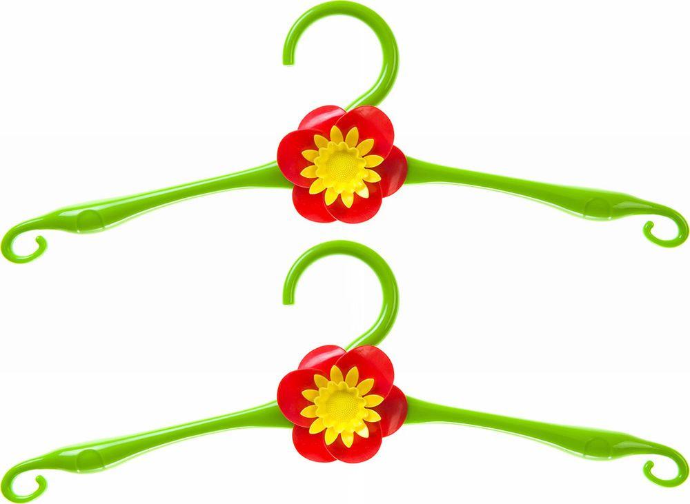 Фото - Набор вешалок для одежды Home Queen Цветок, 74292, зеленый, длина 41 см, 2 шт набор переводных наклеек для яиц home queen пасха 6 шт
