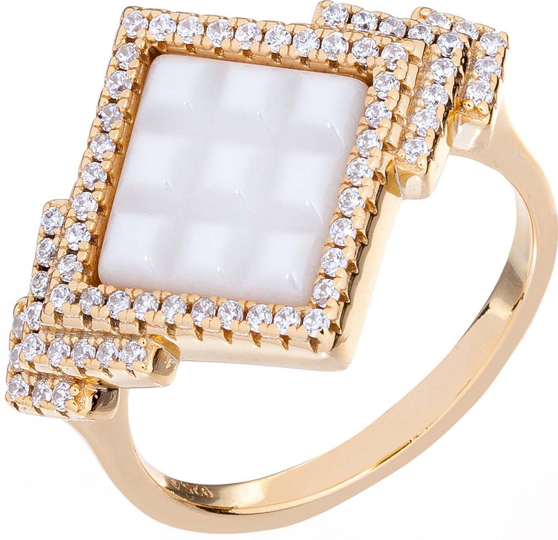 Кольцо женское Акцент Бриллиант, серебро 925, ЦБ000006176, размер 17СереброЖенское кольцо с керамикой и фианитами. Из серебра 925 пробы в позолоте. • Не замеряйте замерзшие пальцы, в этот момент их размер отличается от обычного. Для точного определения размера, замеряйте ваш палец в конце дня, когда его размер является наибольшим. • Определите, размер какого пальца вам необходимо узнать. Помолвочные и обручальные кольца принято носить на безымянном пальце правой руки. • Если вам подходят два размера, стоит выбрать больший. • Если сустав шире самого пальца – измеряйте диаметр сустава. • Если вы хотите приобрести кольцо с ободком шире 4 мм, его размер должен быть примерно на полразмера больше обычного.