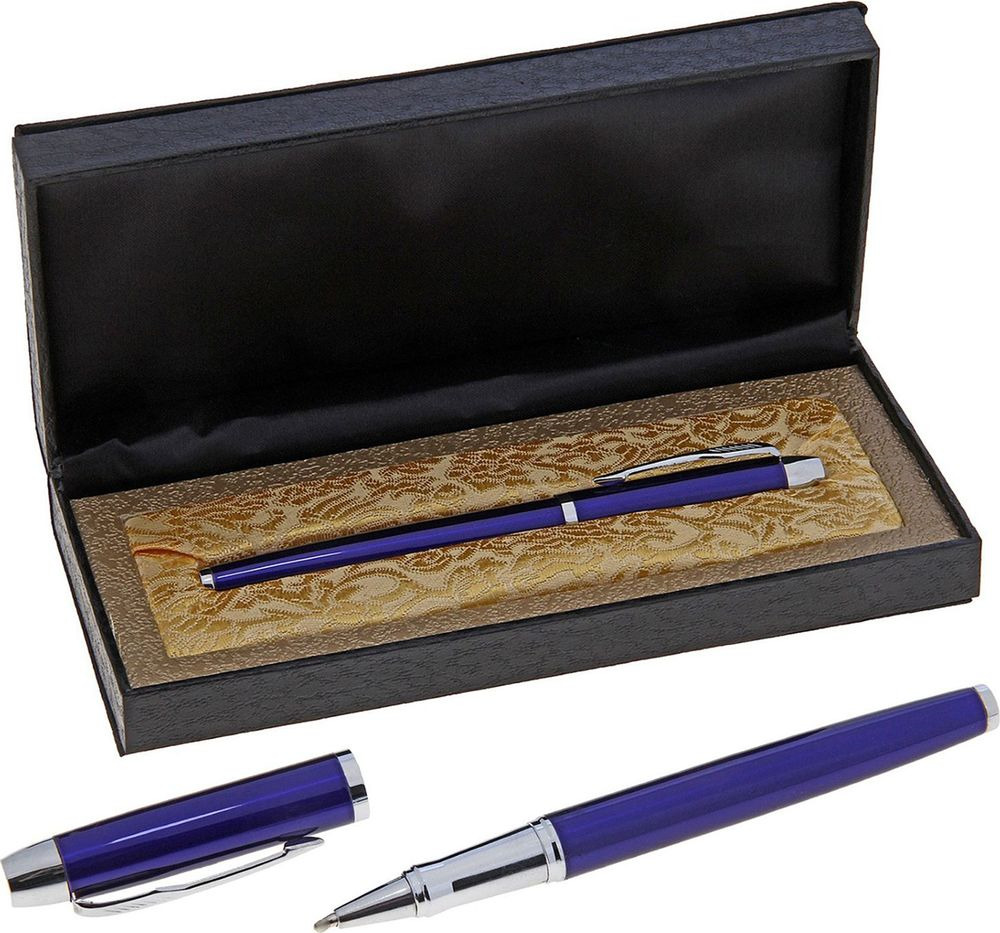 Ручка подарочная капиллярная  Империал , 634801, в футляре, корпус синий, серебристый