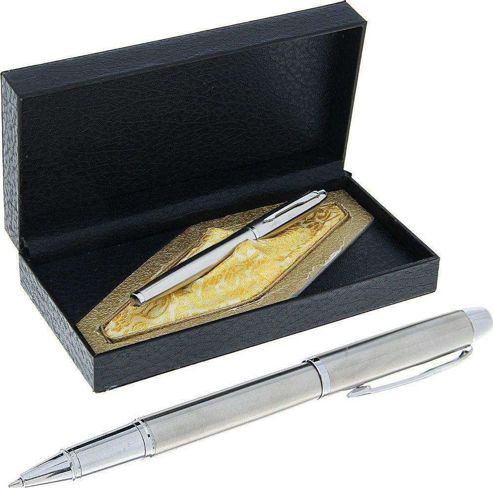 Ручка подарочная капиллярная Calligrata  Престиж , 714158, в футляре, корпус серебристый