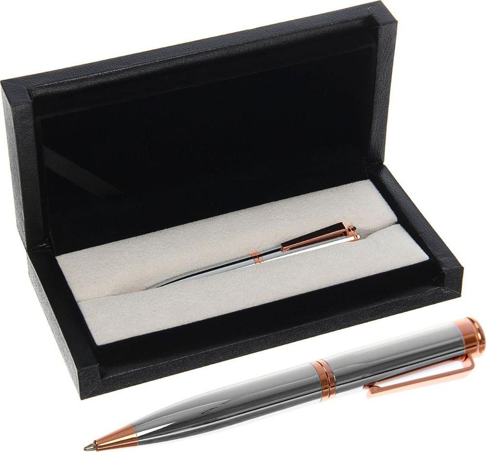 Ручка подарочная шариковая Calligrata  Эксперт , 2409957, в футляре, поворотная, корпус серебристый