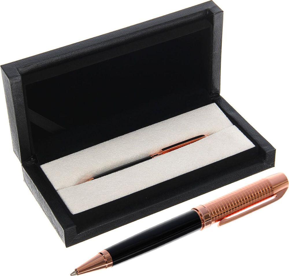 Ручка подарочная шариковая Calligrata  Крона , 2409959, в футляре, поворотная, корпус золотой, черный