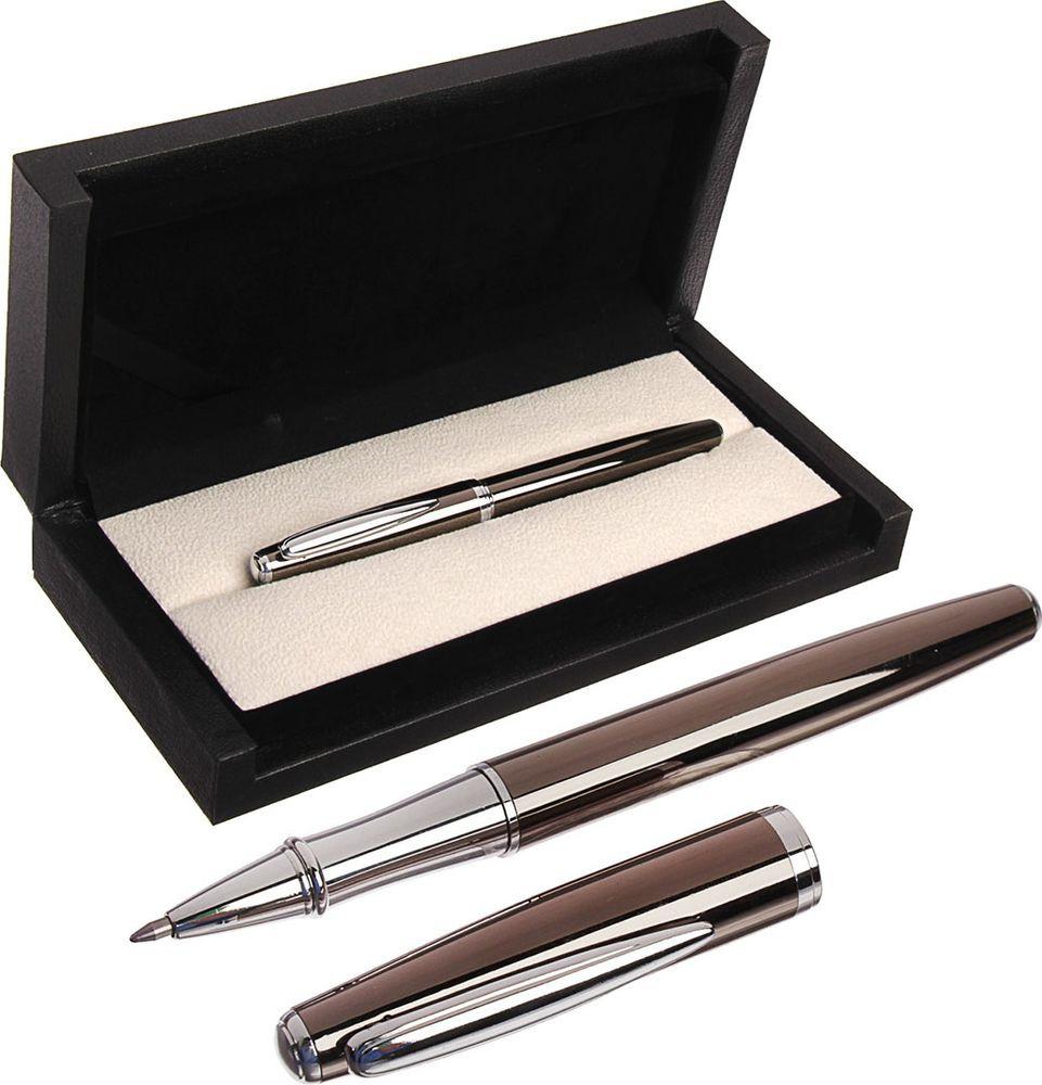 Ручка подарочная шариковая Calligrata  Кросс , 3604814, в футляре, поворотная, корпус серый