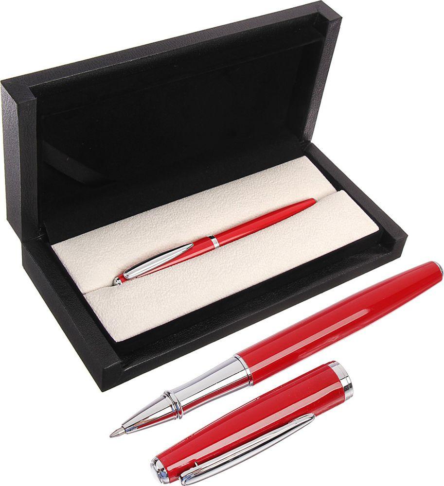 Ручка подарочная шариковая Calligrata  Кросс , 3604816, в футляре, корпус красный, серебристый