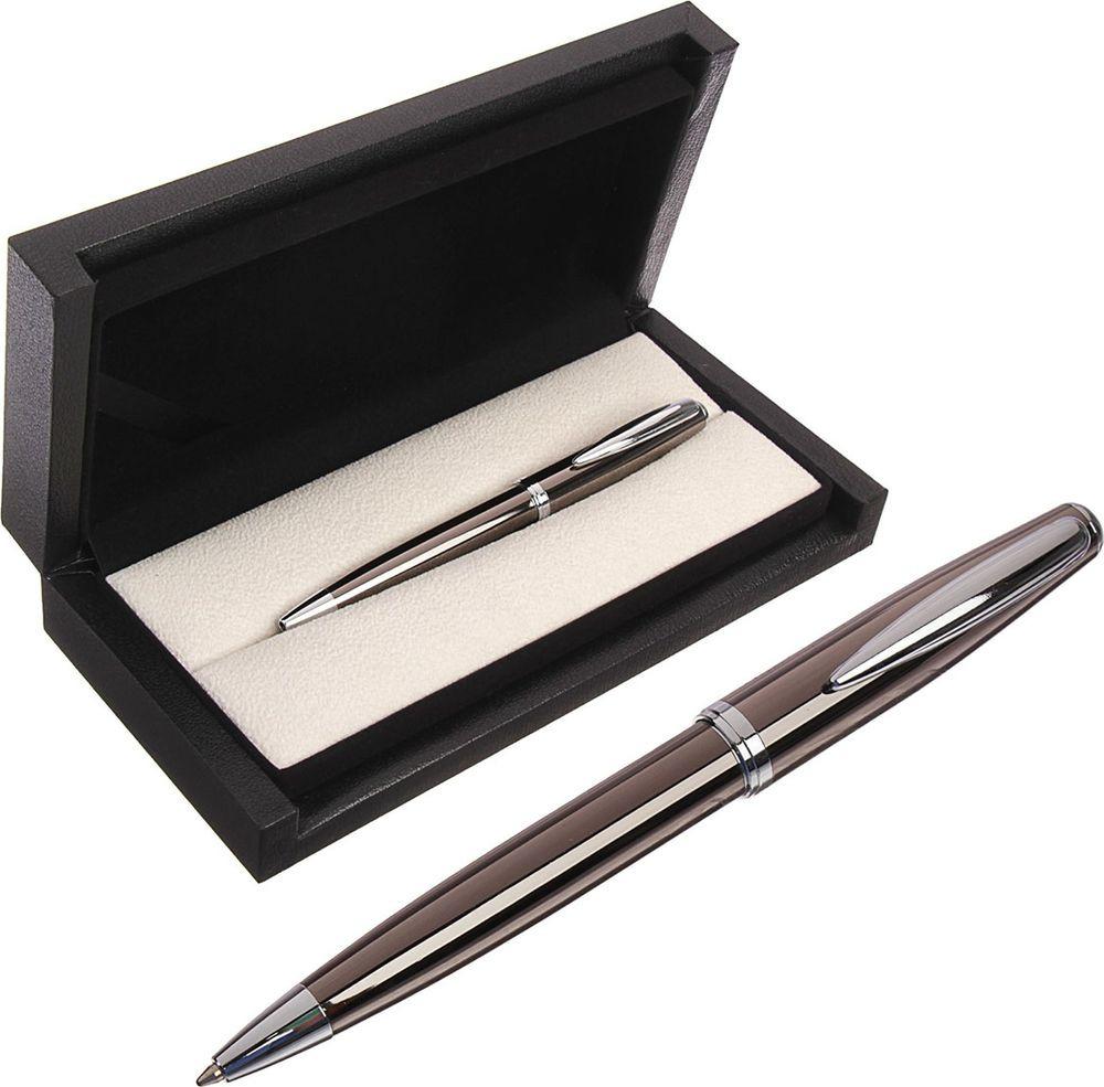 Ручка подарочная шариковая Calligrata  Ралли , 3604817, в футляре, поворотная, корпус серый