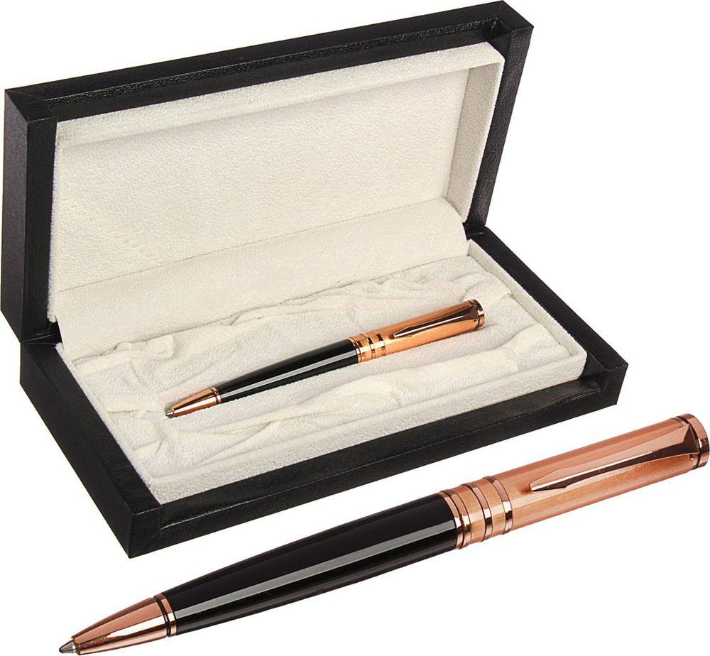Ручка подарочная шариковая Calligrata  Шик , 3604826, в футляре, поворотная, корпус черный, золотой