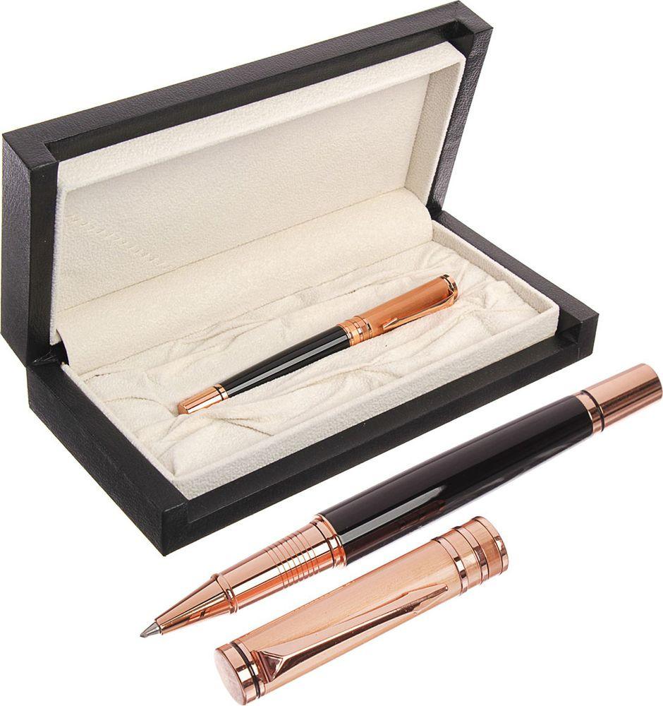 Ручка подарочная шариковая Calligrata  Шик , 3604827, в футляре, корпус черный, золотой