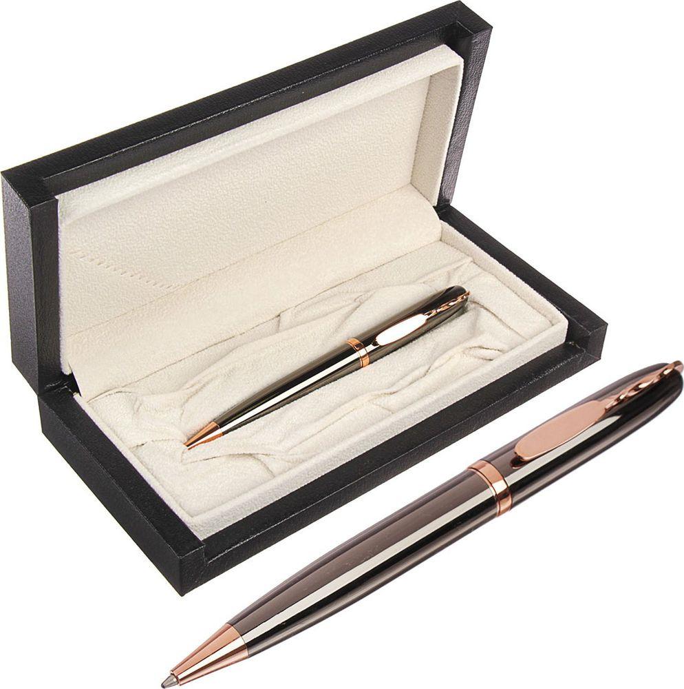 Ручка подарочная шариковая Calligrata  Оригинал , 3604828, в футляре, поворотная, корпус серый, золотой